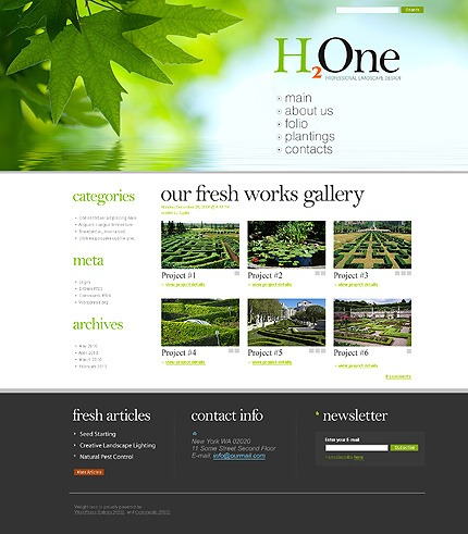 template monstre - 199 templates wordpress per blog dedicati alla natura 4a