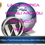 Gli articoli di Archivio WordPress più letti nel 2018: Adsense, SEO, Plugins ed altro ancora.